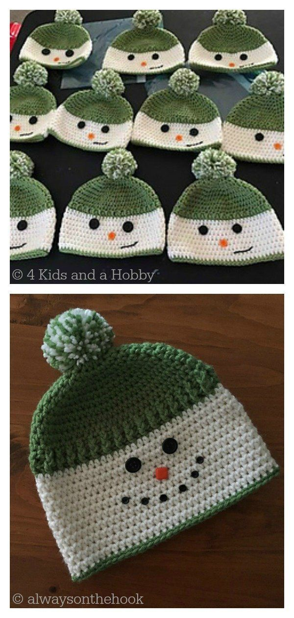 Snowman Hat Free Crochet Pattern