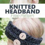 So adorable! Quick Child's Knitted Headband Pattern #knitheadbandpattern Knit he...