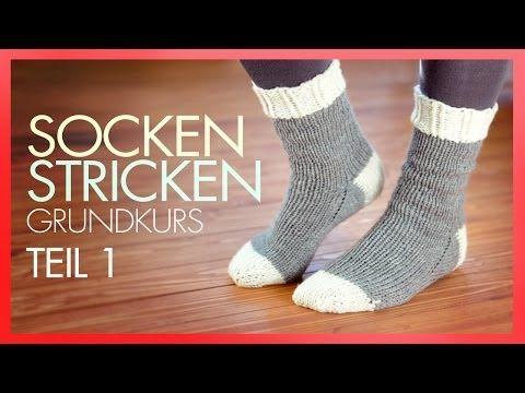 Socken stricken mit Rundstricknadeln!