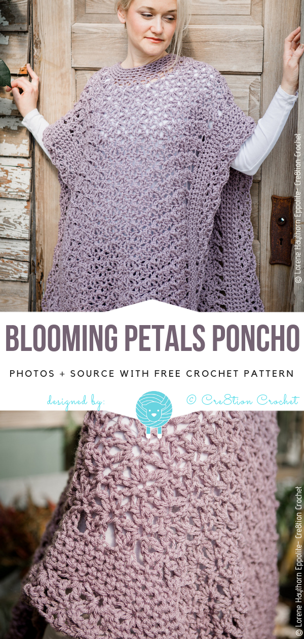 Spring Crochet Ponchos Free Patterns