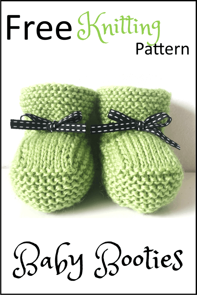 Stash Busting Baby Booties Free Knitting Pattern – Daisy and Storm