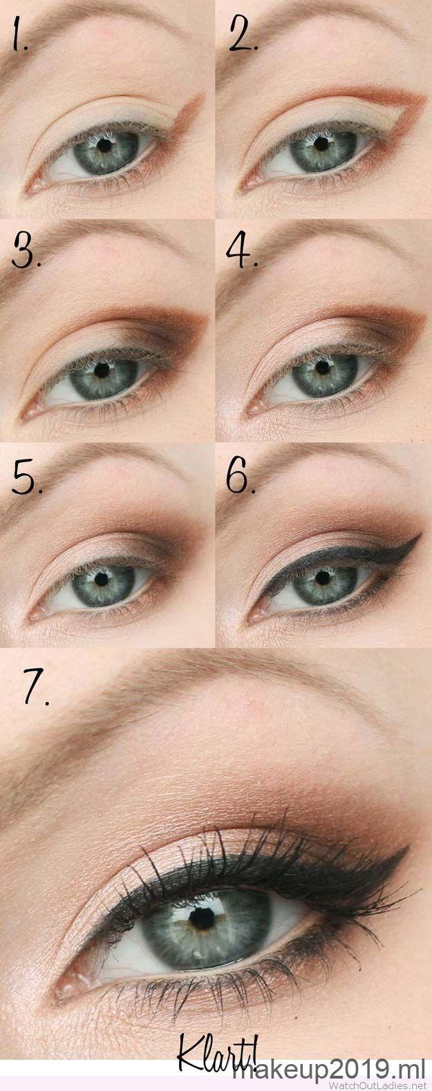 Step by Step Smokey Eye Tutorials  Nude and Black Smokey Eye  Step by Step Tut
