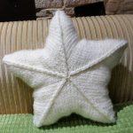 Sternkissen - schnell und einfach gestrickt - 3 Größen - leicht anzupassen