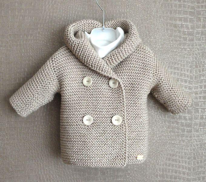 Strickjacken – Baby-Strickjacke Duffle Gr. 0-6 Monaten – ein Designerstck von lo…