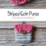 Striped Coin Purse Crochet Free Pattern