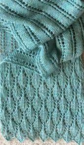 Summer Stream Schal Free Knitting Pattern – Dieser Spitzenschal … #Spitze #S…