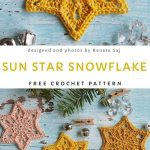 Sun Star Crochet Snowflake Will Be a Perfect Christmas Ornament - Free Pattern