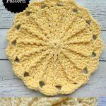Sunny Day Crochet Dishcloth -