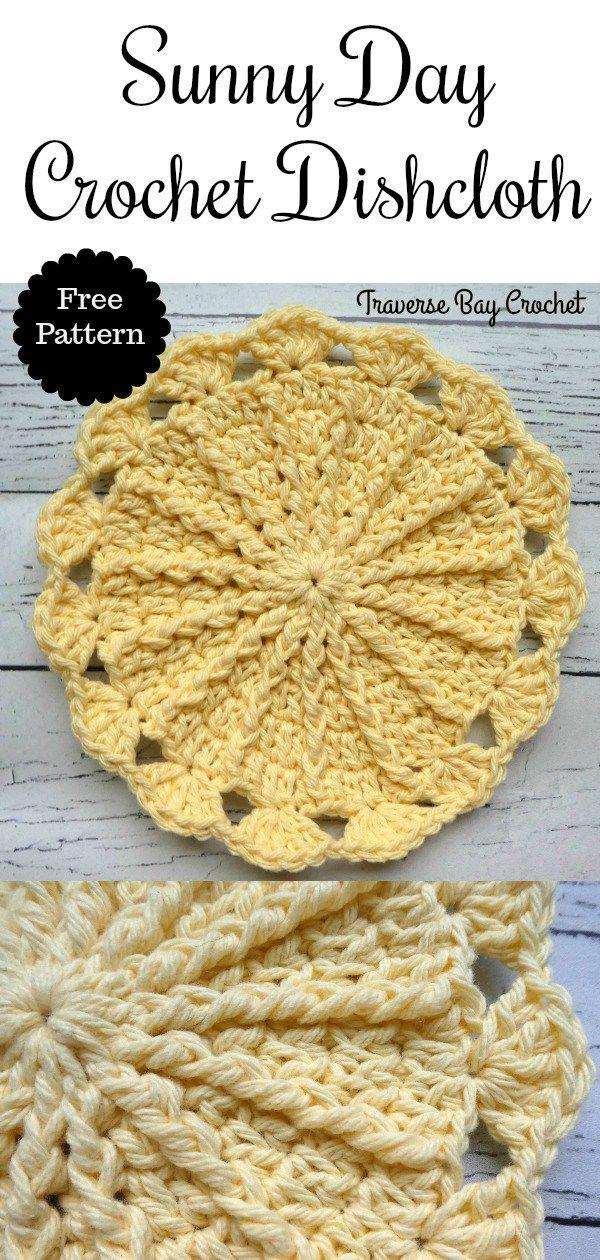 Sunny Day Crochet Dishcloth –