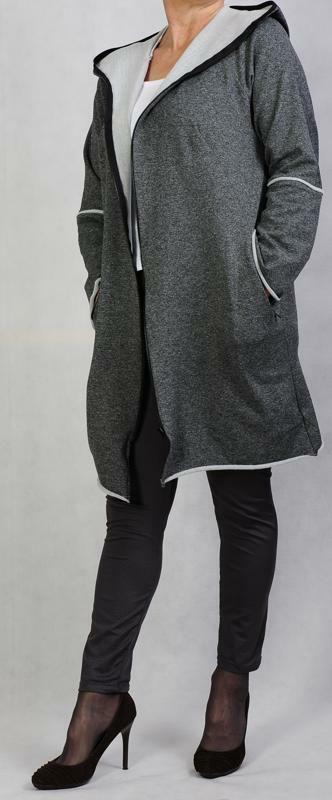 Sweatshirtjacke mit Kapuze gratis bis Größe 52