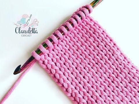 TUNESISCH HÄKELN Strickmuster häkeln ganz einfach – Crochet Short