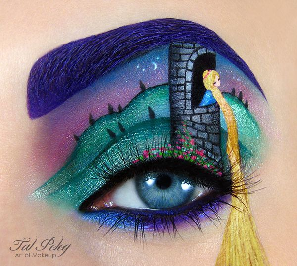 Tal Peleg's Eye Art Recreates Your Favorite Movies and Fairy Tales