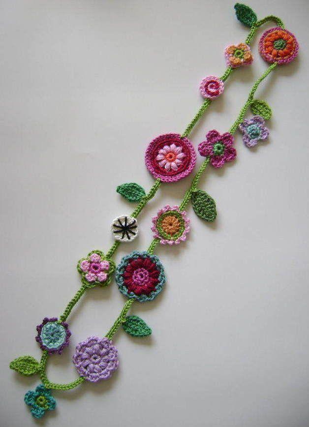 Tap für Ohrringe, Armbänder, Halsketten, Anhänger, Armreifen und vieles mehr – Blumen gehäkel…