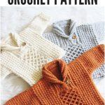 Textured Crochet Baby Boy Sweater - Crochet Dreamz