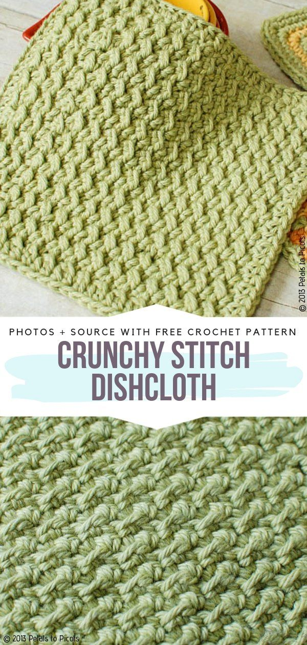 Textured Crochet Washcloths Free Patterns – Free Crochet Patterns