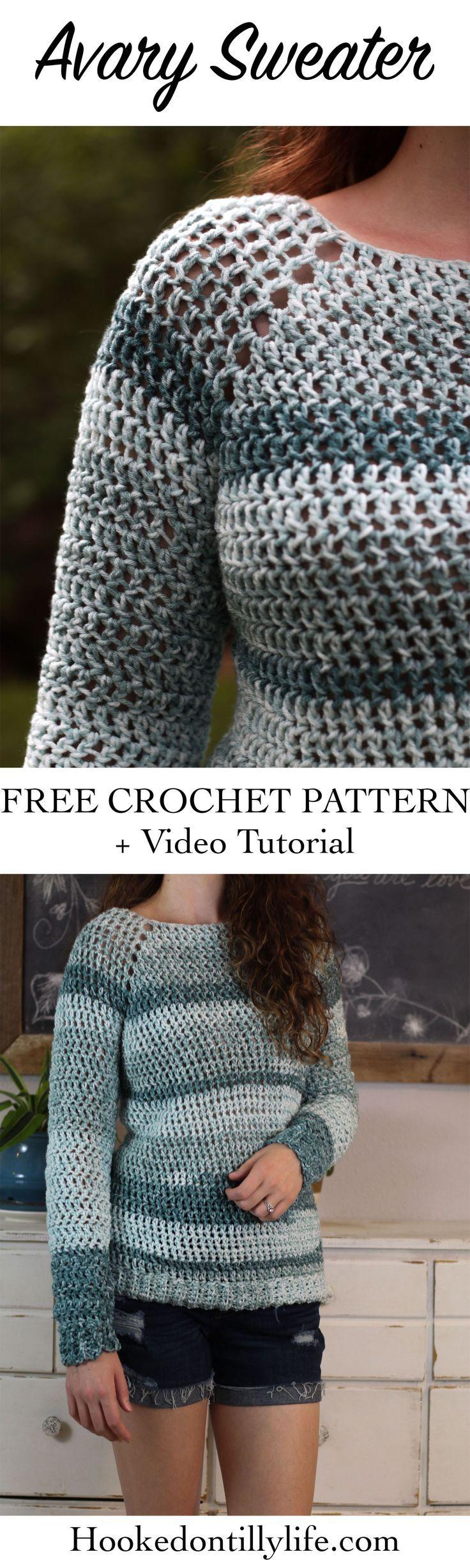 The Avary Sweater – Free Crochet Pattern