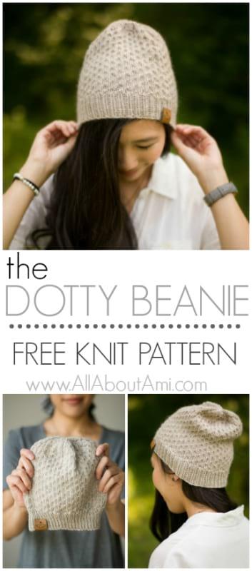 The Dotty Beanie Knit Pattern