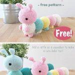 The Little Caterpillar Toy Crochet Free Pattern