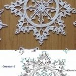 The best collection of snowflakes in Crochet - Salvabrani