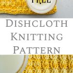 This dishcloth knitting pattern is a tad more challenging than a beginner patter...