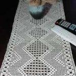 Tischläufer mit fantastischer 3D-Illusion und Rapport, Stola, Schaltuch