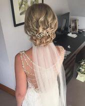 Top 15 Wedding Hairstyles for Medium Length Hair #Blondes #Short Hair # Bridal H…