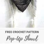 Triangle scarf for beginners: Pop-Up Shawl by Wilmade (free pattern)