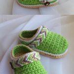 Tribal Baby Clogs crochet pattern