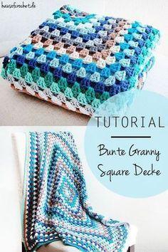 Tutorial: Bunte Granny Square Decke