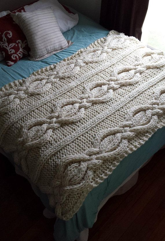 Twisted Cable Knit Blanket- MADE TO ORDER