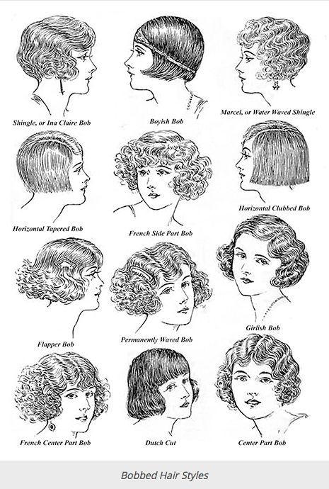 Typische kurze Frisuren der 20er und 30er Jahre – Sevilla