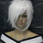 USJF630 charming short white blue black health hair WIG wigs for women | Health ...