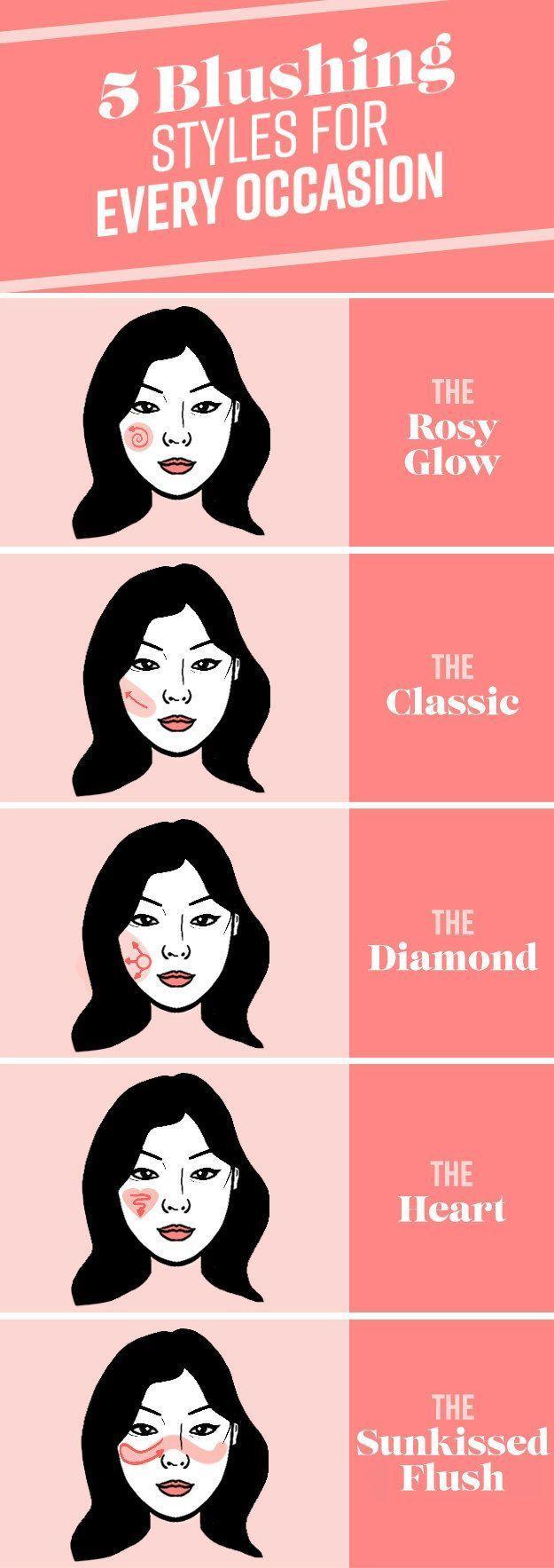 Und wenn alles andere fehlschlägt, probieren Sie einen dieser idiotensicheren Rouge-Looks. – Make up and manicure