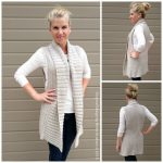 Vest Crochet Pattern Long Style with Shawl Collar No.935 Digital ePattern Instant Download PDF DIY English