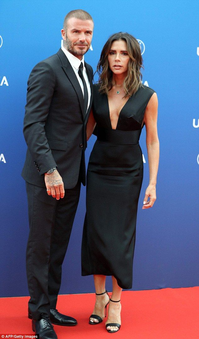 Victoria Beckham makes rare red carpet appearance with husband David