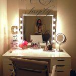 Vintage Makeup Vanity Design with Built-in Storage