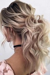 Voluminous Curly Ponytail Hairstyle For Prom Night #ponytail ★ It is high time…