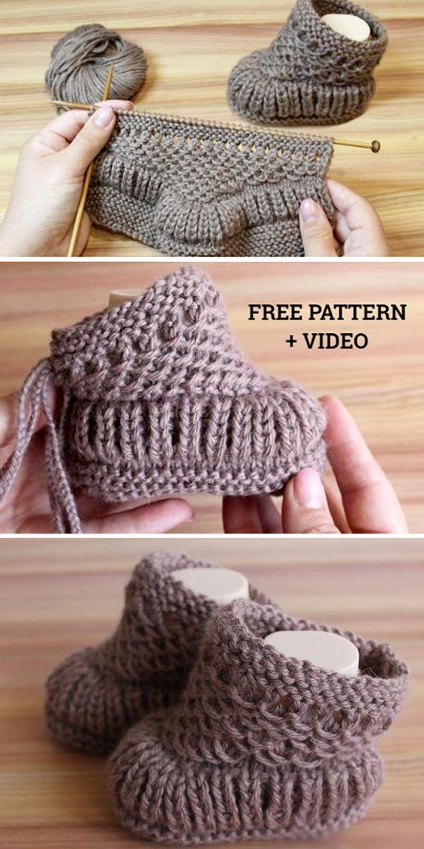 Warm Baby Booties – Free Pattern & Tutorial