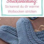 Warme Woll-Socken stricken