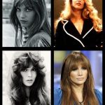 We want the hairstyles of the 70s to return: paths the fringe and pony this