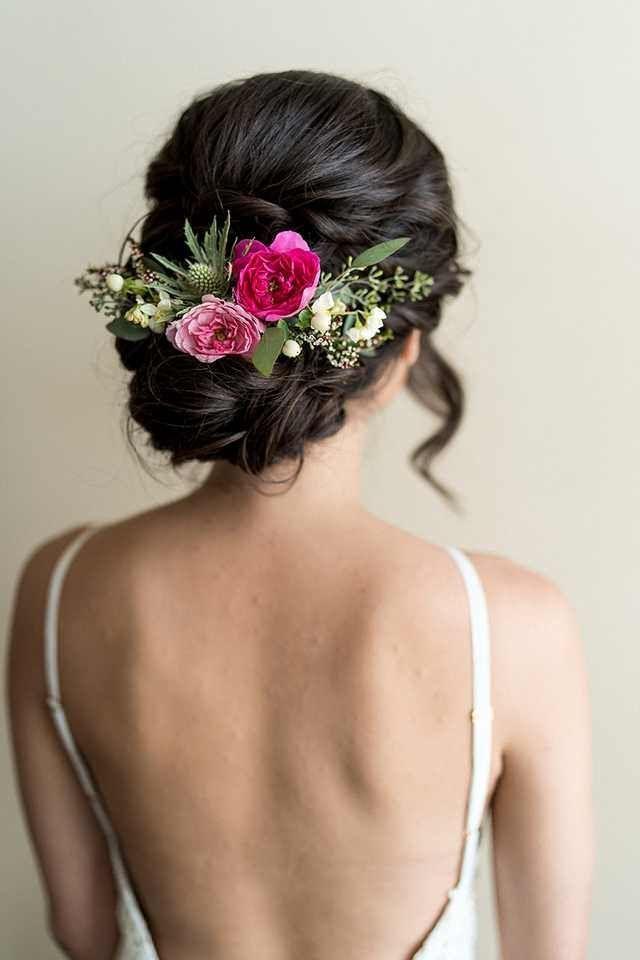 Wedding Hair with flowers #bridalhairflowers Wedding Hair with flowers – #flower…