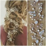 Wedding hair vine long Bridal hair piece Bridal hair accessories Baby breath hea...