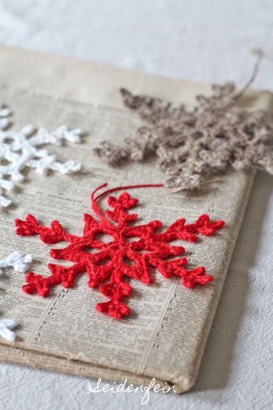 Weihnachtliche Schneeflocke : snowflake for Christmas : seidenfein.blogsp…