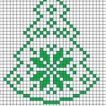 Weihnachtsbaum mit Schneeflocke  #knittingmodelideas #schneeflocke #weihnachtsba...
