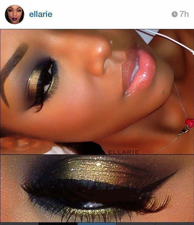 Wie dramatische Augen Make-up für Hazel Eyes Make-up Pinsel Loreal #makeupbox #…