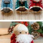 Winter Christmas Ornaments Free Knitting Pattern