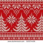 Winter Holiday Seamless Knitting Pattern with a Christmas Trees. Knitting Sweate...,  #Christ...