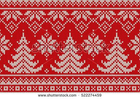 Winter Holiday Seamless Knitting Pattern with a Christmas Trees. Knitting Sweate…,  #Christ…