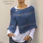 Wolle Poncho Cape Muster - Winter Poncho Muster für Frauen - einfach zu stricken Muster - Anf...