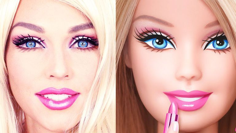 Woman Transforms Herself Into Barbie Using Only Makeup